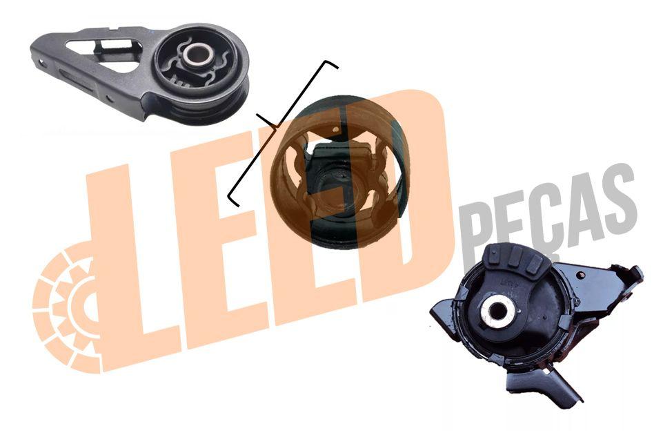 Kit Coxim Motor Refil Esquerdo Frontal Fit Manual 2003 04