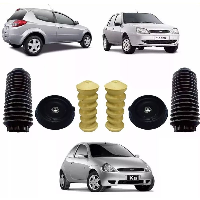 Kit Duplo Completo Amortecedor Traseiro Fiesta 1997 1998 1999 2000 2001 2002
