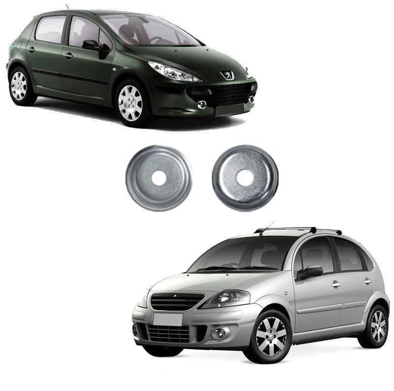 Kit Par Calço Copo Apoio Coxim Amortecedor Dianteiro C3 Peugeot 307