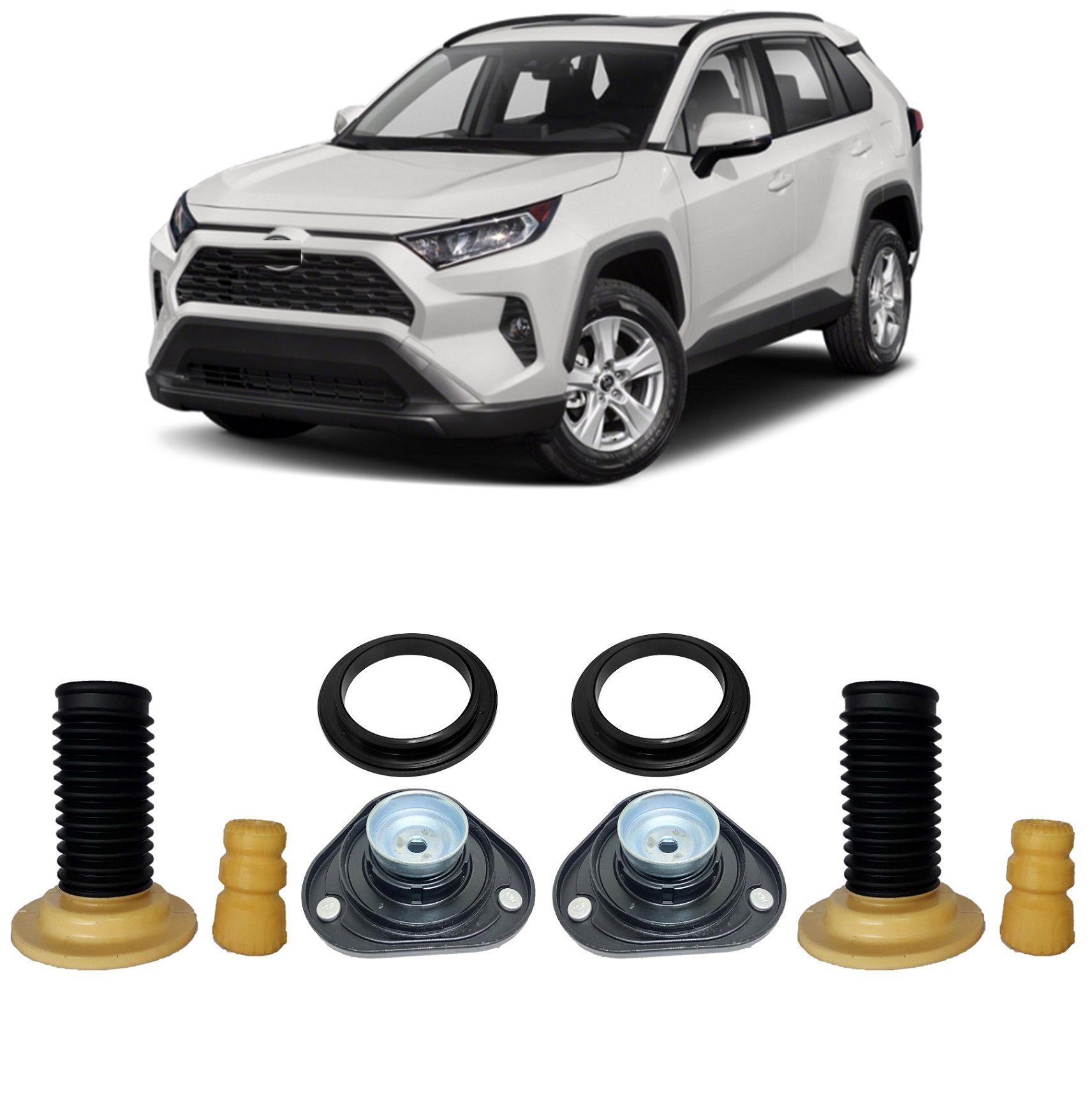 Kit Par Coifa Batente Coxim Amortecedor Amortecedor Dianteiro Toyota Rav4 2012 2013 2014 2015 2016 2017 2018