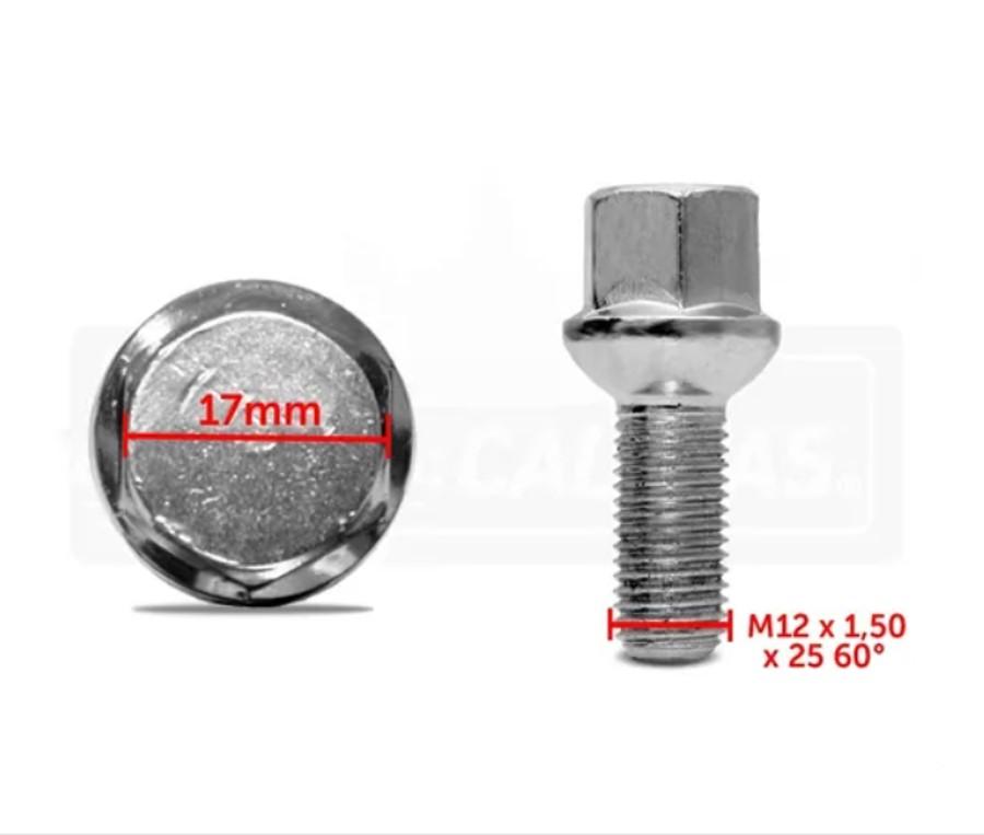 kit PARAF.RODA CORSA/MONZA/KADETT M12-1,50X27-54 PVL CH17 CONICO ORIGINAL