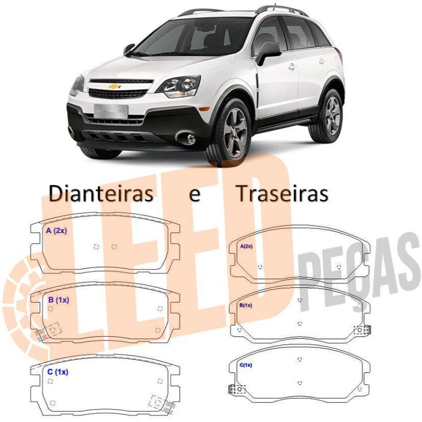 Kit Pastilha Freio Dianteira Traseira Captiva 2.4 3.6 4X2 4x4 2006 2007 2008 2009 2010 2011 2012 2013 2014 2015 2016 2017