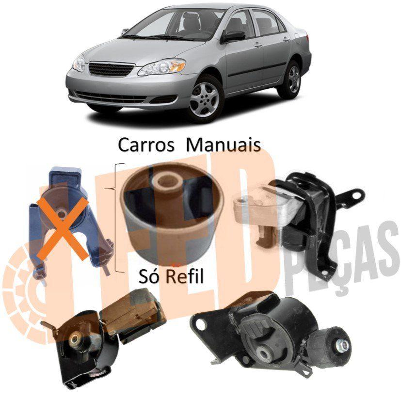 Kit Refil Coxim Motor Câmbio Corolla 2002 2003 2004 2005 2006 2007 2008 Manual