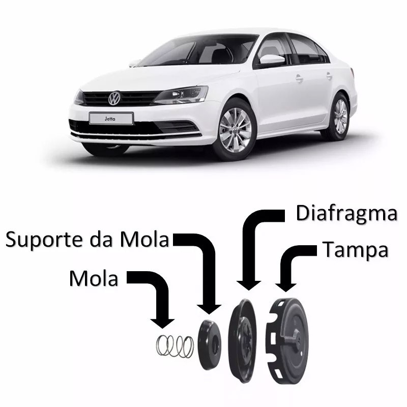Kit Reparo Diafragma Membrana Tampa Valvulas Jetta