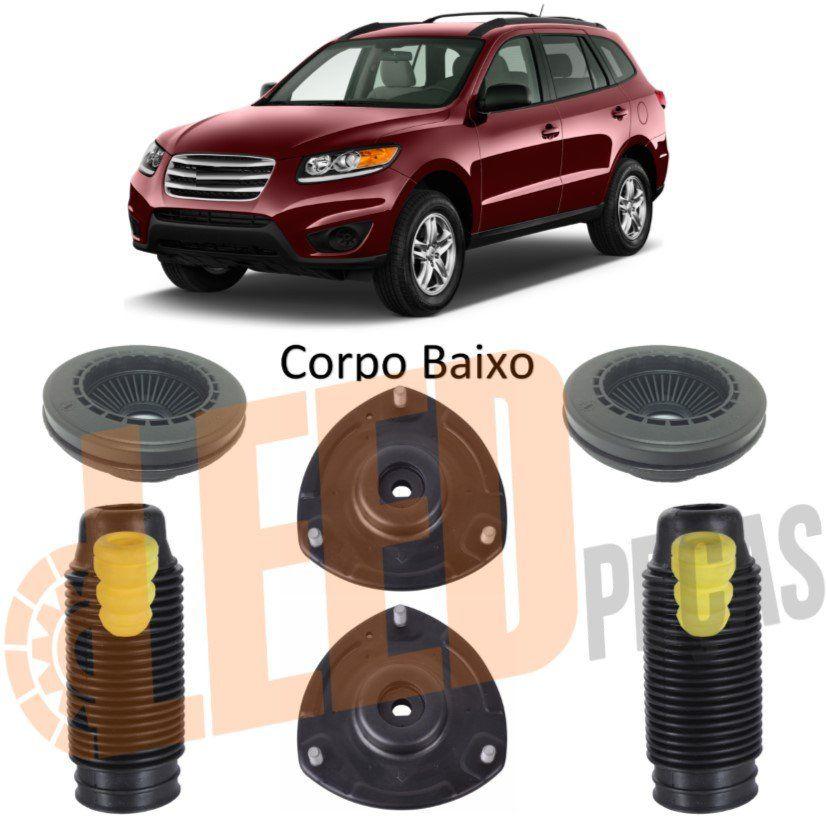 Kit Rolamento Coifa Batente Coxim Amortecedor Dianteiro Hyundai Santa Fé 3.5 V6 2010 2011 2012 2013