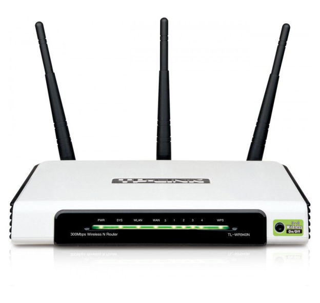 059ac8c5b Roteador Sinal Wireless Wifi 300 Mbps Tp-Link TL-WR940N 3 Antenas - TOP  FIVE COMERCIAL