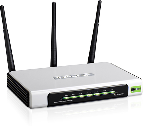 b9eed4913 Roteador Sinal Wireless Wifi 300 Mbps Tp-Link TL-WR941ND 3 Antenas - TOP  FIVE COMERCIAL