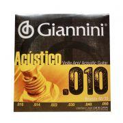 Encordoamento de Violao Giannini Bronze Geswam 0.010