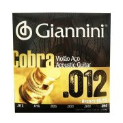 Encordoamento para Violao Aco 0.012 Giannini Cobra Geeflks