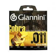 Encordoamento Para Violao Aco Giannini Cobra 0.011 Geeflk