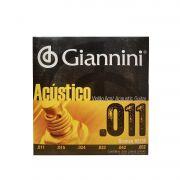 Encordoamento para Violao Giannini Bronze Gespw 011