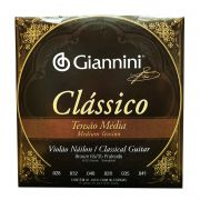 Encordoamento para Violao Nylon Giannini Classico Tensao Media Genwpm