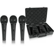 Kit Com 3 Microfone Dinâmico Behringer Xm1800S + Case