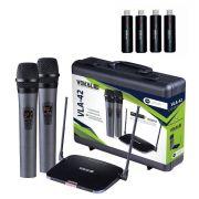 Microfone Sem Fio Vokal Vla42 + 2 Baterias Extras