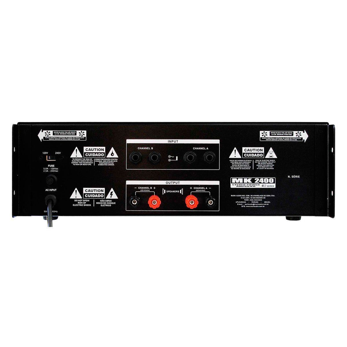 Amplificador Mark Audio Mk2400/D 400W - Cod. Prod.7981