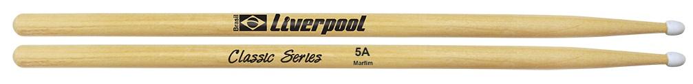 Baqueta Liverpool Classic Series 5A Ponta Nylon Ll5An