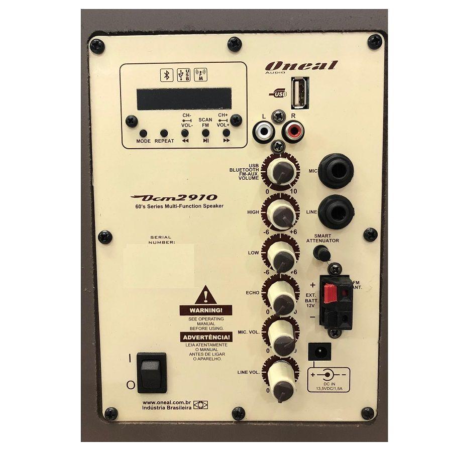 Caixa De Som Multiuso Oneal Ocm2910 Bluetooth 60W Rms