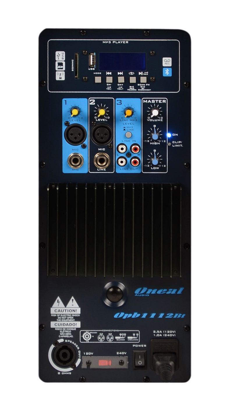 Kit 2 Caixa de Som Ativa Oneal Opb1112 400w Rms