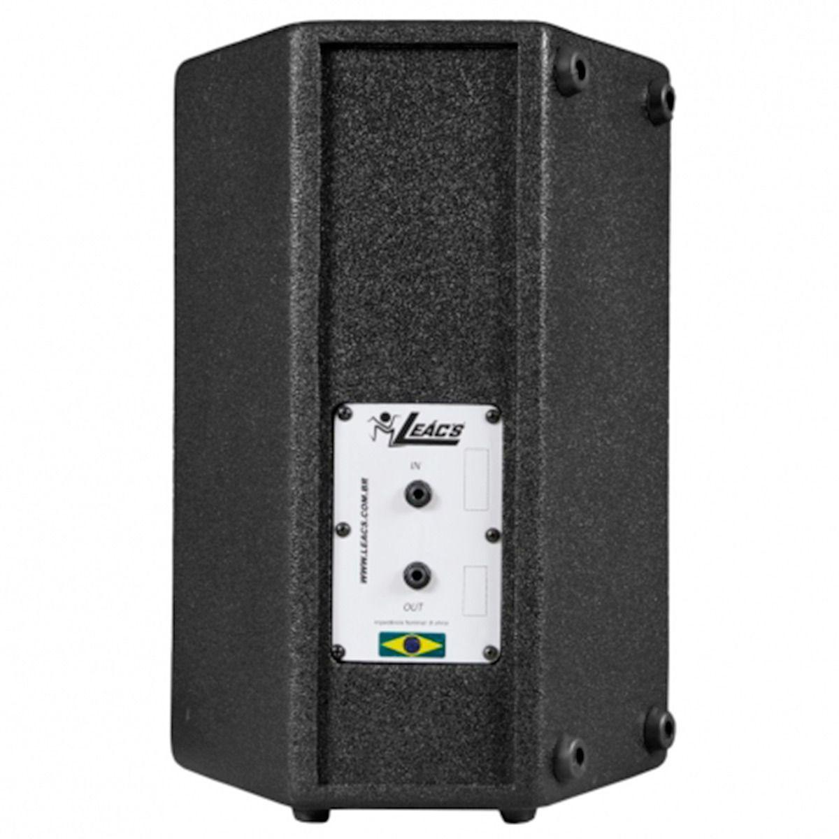 Kit 2 Caixa Acústica Leacs Fit160 + Amplificador Oneal Op1700