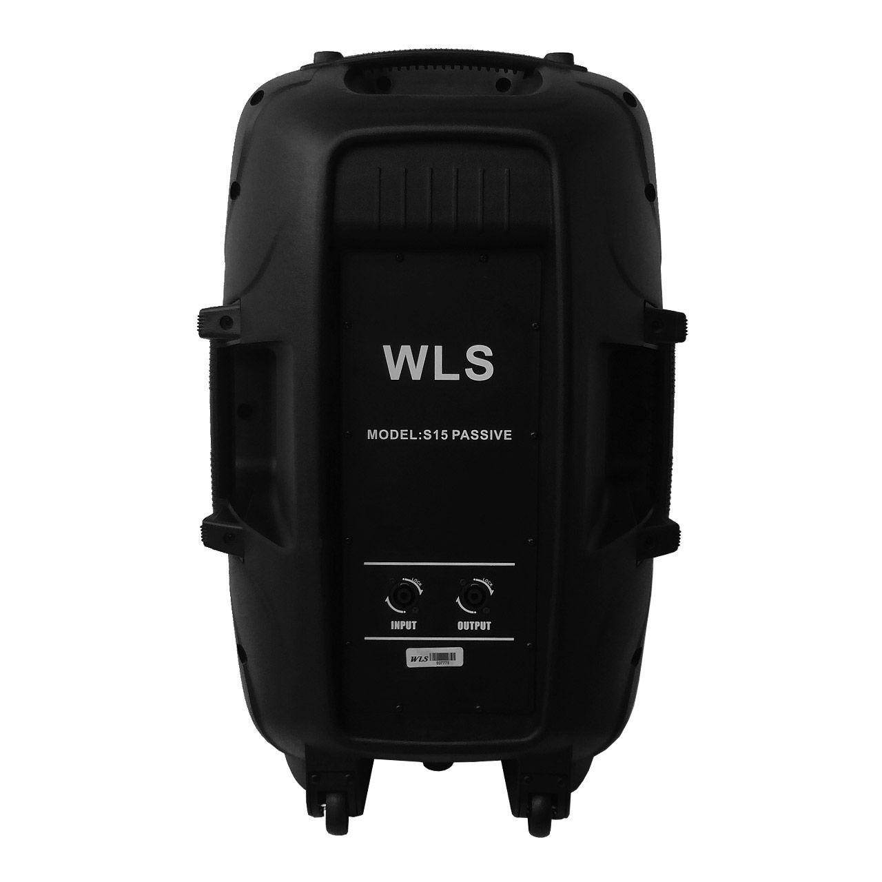 Kit Caixa De Som Ativa Passiva Wls S15 Bluetooth 430w Rms + Suporte e Cabo