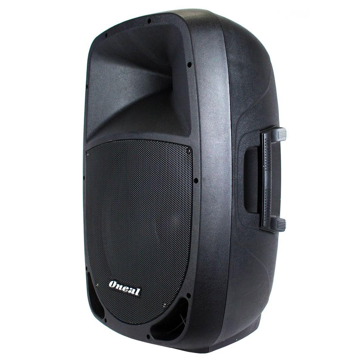 Kit Caixa de Som Oneal Ativa Passiva Opb1112 Ob1112 + Microfone Vws20 + Suporte