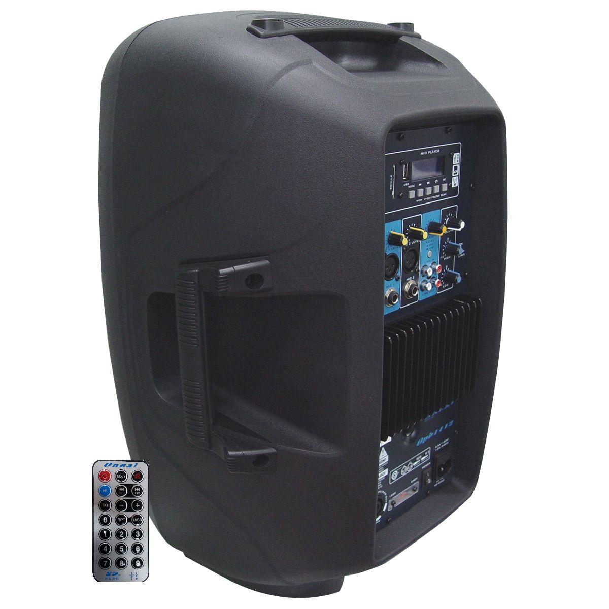 Kit Caixa de Som Oneal Ativa Passiva Opb1112 Ob1112 475w + Cabo