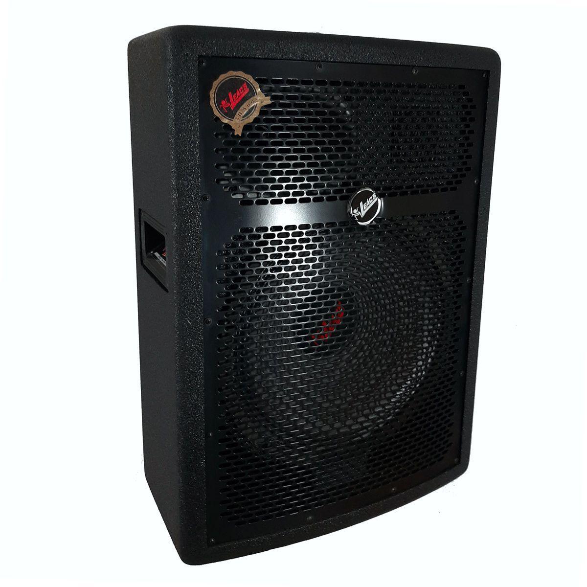 Sistema Pa Sub Woofer Leacs Sli1500 + Caixa Ativa Passiva Fit320a 1300w Rms