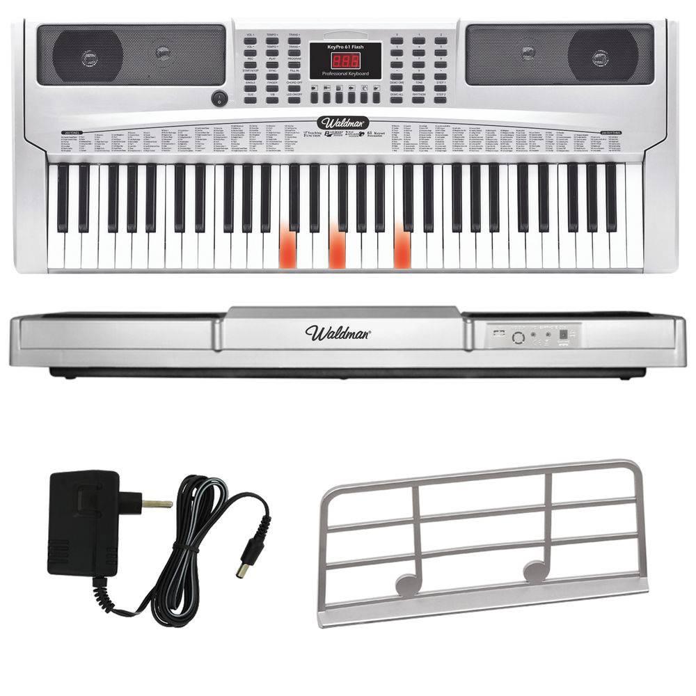 Kit Teclado Musical Waldman Keypro61 + Suporte Capa
