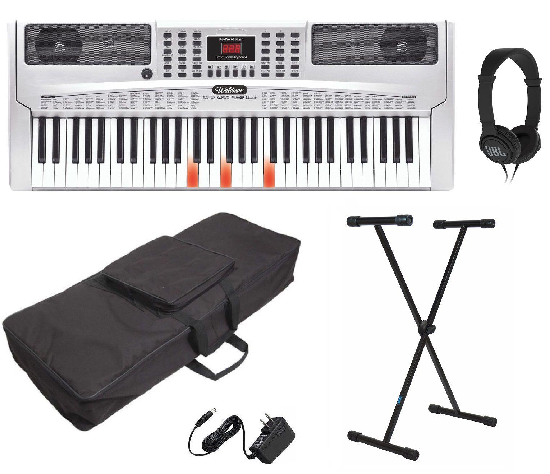 Kit Teclado Musical Waldman Kep61 + Suporte Capa Fone