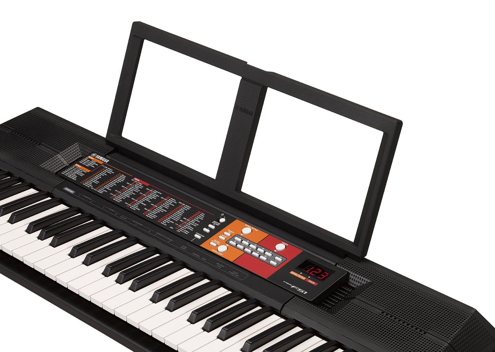 Kit Teclado Musical Yamaha Psr F51 + Suporte Capa Fone
