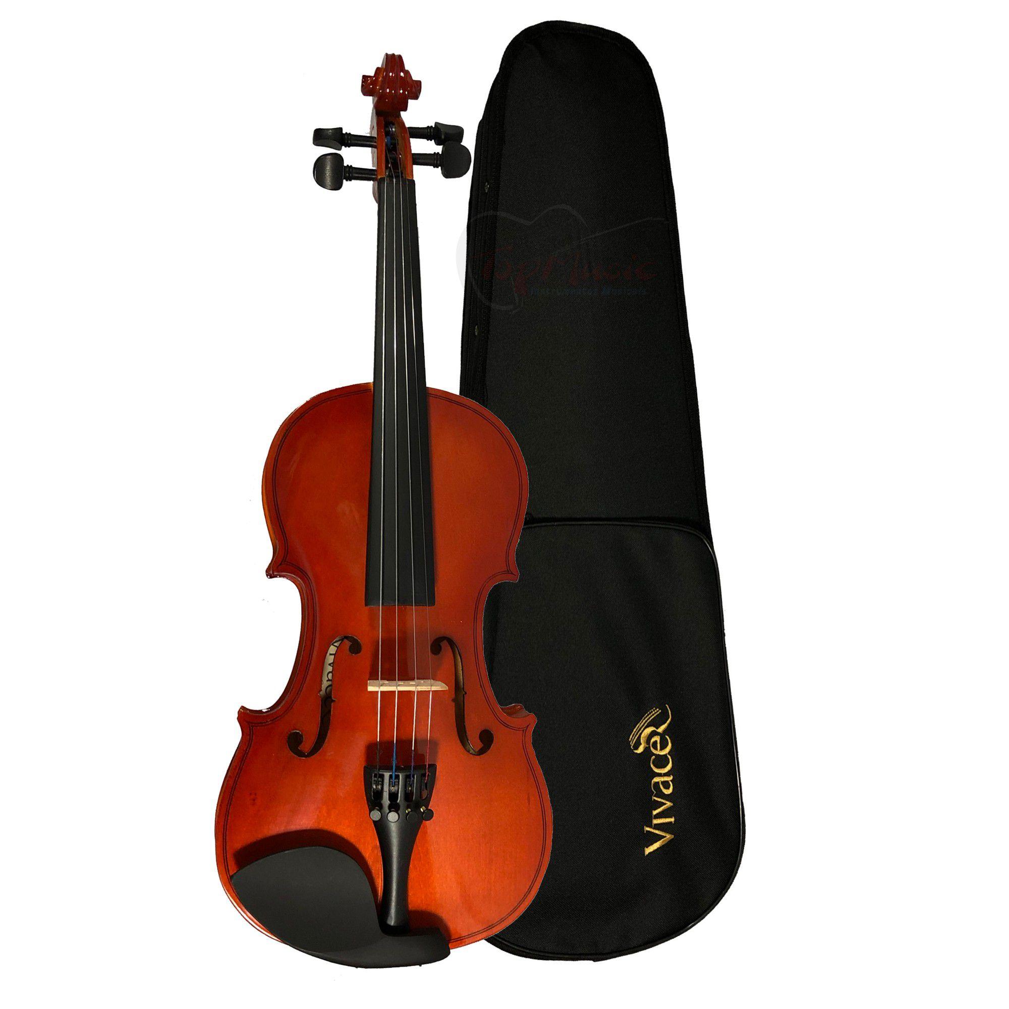 Kit Violino Vivace Mo44 4/4 Case Pedestal Espaleira Afinador