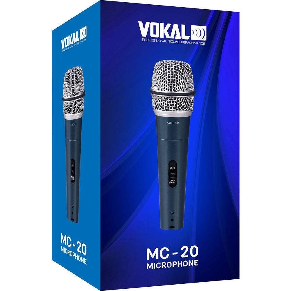Microfone De Mao Com Fio Profissional Vokal Mc20