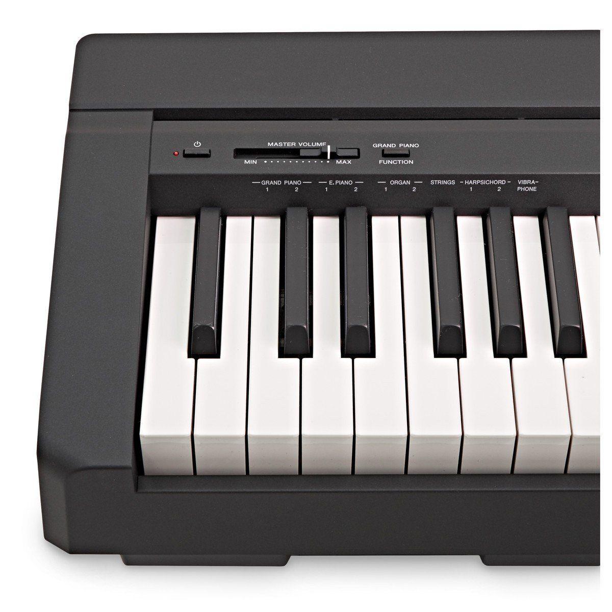 Piano Digital Yamaha P45 Preto + Pedal Sustain + Fonte