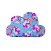 Brinquedo Almofada Pet Para Cachorro e Gato - Nuvem Unicórnio Azul Pink