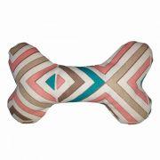 Brinquedo Osso Almofada Pet Para Cachorro e Gato - Rosê
