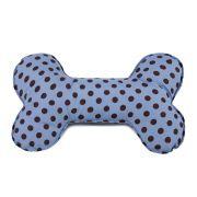 Brinquedo Osso Almofada Pet Para Cachorro - Azul Poá