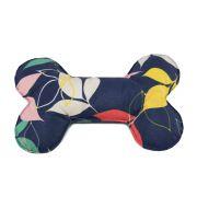 Brinquedo Osso Almofada Pet Para Cachorro - Folhas