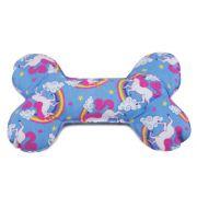 Brinquedo Almofada Ossinho Para Cachorro - Unicórnio