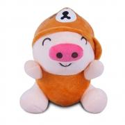 Brinquedo para Cachorro Pelúcia Porquinho Laranja