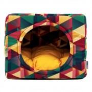 Cama de Gato Toca Iglu Premium - G - Geometric Amarelo