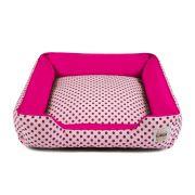 Cama de Cachorro com Zíper Pandora - G - Rosa Poá Pink