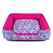 Cama de Cachorro com Zíper Pandora - GG - Unicórnio Azul Pink