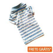 Camiseta Polo Listrada Azul
