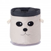 Cesto Organizador de Brinquedos para Cachorro - Panda