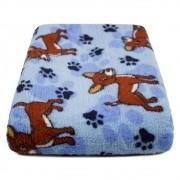 """Cobertor para Cachorro Microfibra """"Meu Pet"""" 0,70x1,00 - Cachorrinho Azul"""