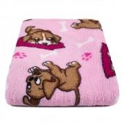 """Cobertor para Cachorro Microfibra """"Meu Pet"""" 0,70x1,00 - Cachorrinho Rosa"""