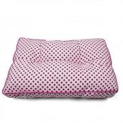 Futton Almofada para Cachorro e Gato Basic 60x40 - Rosa Poá Pink
