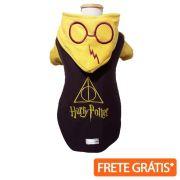 Moletom Roupinha Pet Harry Potter Amarelo para Cachorro e Gato - FRETE GRÁTIS*