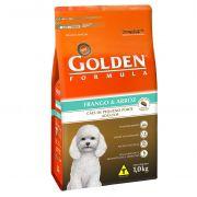 Ração Golden Fórmula Mini Bits para Cães de Pequeno Porte Adultos - Sabor Frango e Arroz