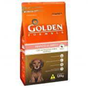 Ração Golden Fórmula Mini Bits para Cães de Pequeno Porte Filhotes - Sabor Frango e Arroz